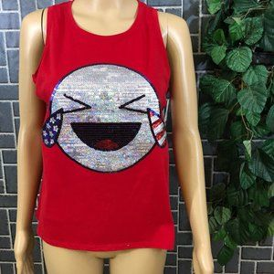 CITY STREETS GIRLS SZ XXL TANK TOP RED EMOJI  NWT